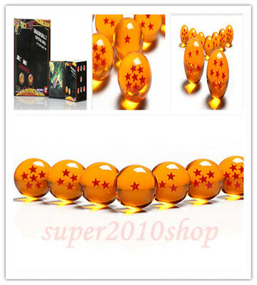 7pcs JP Anime DragonBall Z Stars Crystal Ball Collection Set with Gift Box 3.5cm