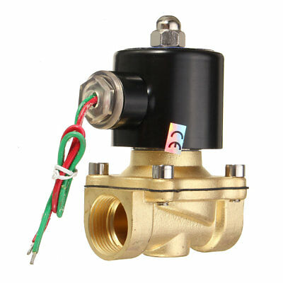 2W-200-20 AC220V 3/4inch Brass Electric Solenoid Valve Water Air Fuels