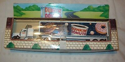 New In Box 1995 Limited Edition Diecast Dunkin Donuts Semi Truck Trailer