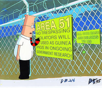 DILBERT At Area 51, Roswell NM :DILBERT Animation Cel