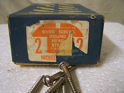 """#12 x 2"""" Round Head Nickel Plated Steel Wood Screws Slotted Qty. 125"""