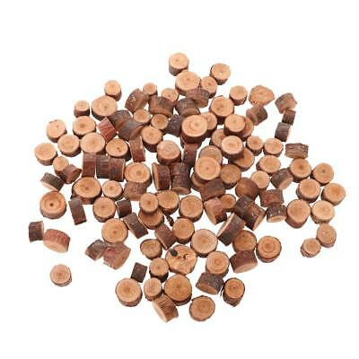 100x Wood Log Slices Discs DIY Craft Wedding Centerpiece Decor 1-1.5cm