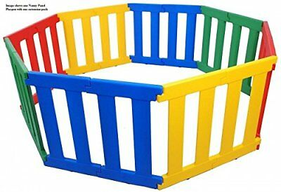 Baby Playpen Multi Panel Plastic Bright Multi Coloured Strong Safe