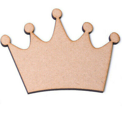 Wooden MDF Crown Shapes Tiara Shapes Craft Blank King Queen Princess Plaques