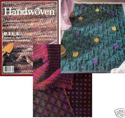 Handwoven magazine sept/oct 1992: rosepath, overshot, rug, ornaments, cat +