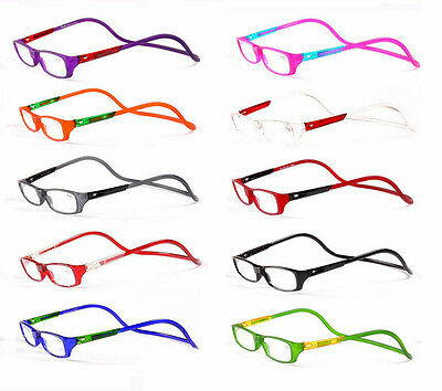 BRAND New Adjustable magnetic reading glasses mens womens +1.50 +2 +3.0 UK