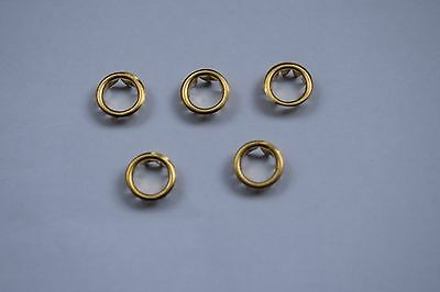 5 x Brass Clock Dial Grommets 10mm Clock Round Key Hole