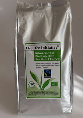 1kg. Bio Darjeeling Schw.Tee Initiative/Bio first flush TGFOP,Transfair Siegel