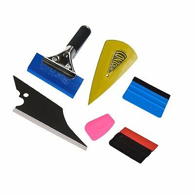 6IN1 Vinyl Squeegee Scraper Window Tint Auto Film Cleaning Wrapping Tools Kits