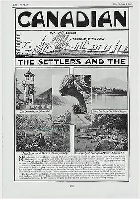 Canadian Pacific Railway 1912 2 Page Advertisement Ad B374