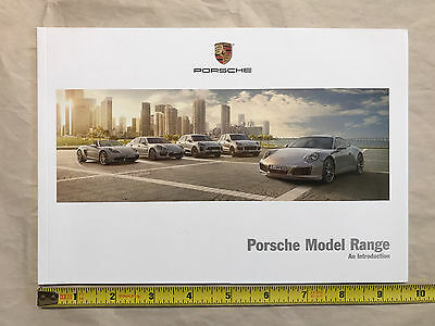 Porsche 2017 full-lineup 56 page brochure booklet, NEW