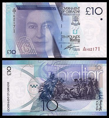 Gibraltar 10 Pounds Sterling  1-1-2011  Pick 36   SC = UNC