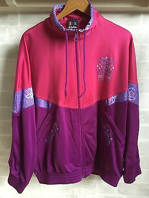 Vintage Retro 80s 90s Crazy Colourful Festival LOTTO Tracksuit Jacket Track Top