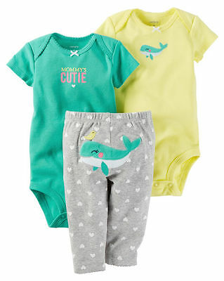 d7966a51c45 CARTER S BABY GIRLS  3-Piece Whale Little Character set 3M -  15.99 ...