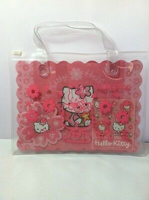 Sanrio 2004 Hello Kitty Letter Set With Stickers In A Clear Plastic Purse Bag
