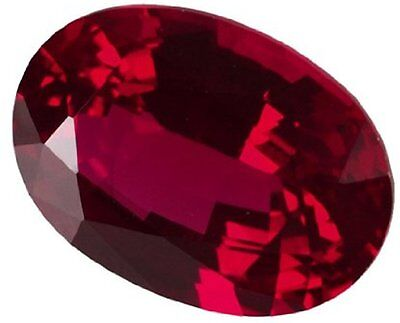 3 ct Ruby Oval New Vintage Genuine Corundum Swiss Made Synthetic Ruby 10 x 8