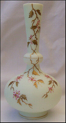 Rare Signed Harrach Bohemian Glass Vase Beautifully Hand Painted Stunning!!