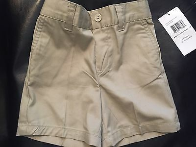 Toddler 2T Tan Khaki School Uniform Pull On Shorts French Toast New with Tags