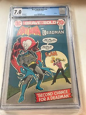 Brave And The Bold 104 CGC 7.0 DC Comics Batman Deadman 1972 F/VF