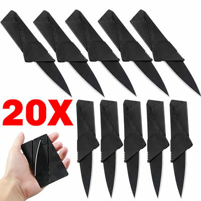 20pcs Credit Card Knives Lot Folding Wallet Thin Pocket Survival Micro Knife HOT