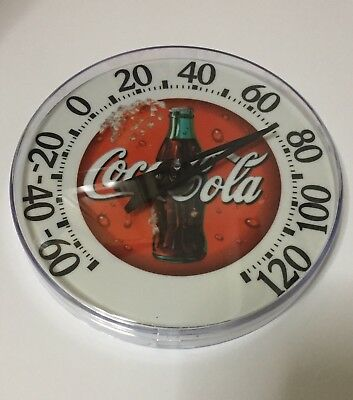 5 Inch Acurite Round Coca Cola Thermometer Indoor/Outdoor Thermometer - 2000