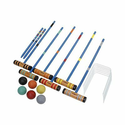 DMI Sports Champion 6-Player Croquet Set Mallet and Carrying Case 24-Inch New
