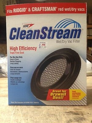 Wet/Dry Vac CleanStream High Efficiency Cartridge Filter Pack 1
