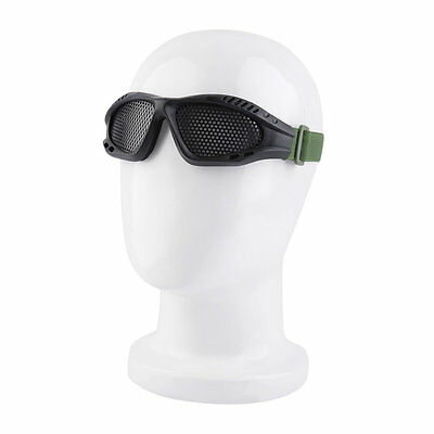 New Tactical Outdoor Steel Mesh Eyes Protective Goggles Glasses Eyewear BTF