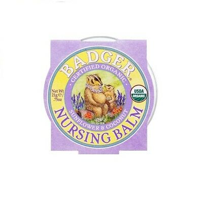 Badger Company 100% Certified Organic Nursing Balm Breastfeeding Nipple Healing