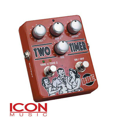 BBE Two Timer Dual Analogue Delay Pedal - New Old Stock