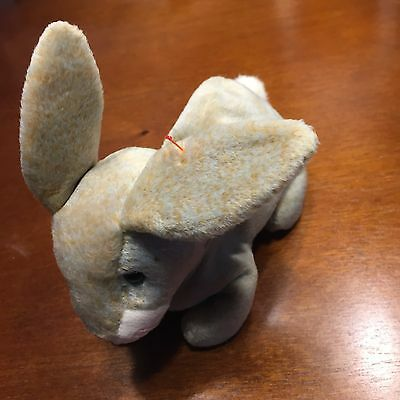 Nibbly Rabbit Ty Beanie Baby, Rare 4 ERRORS NEW with Tags Mint Condition