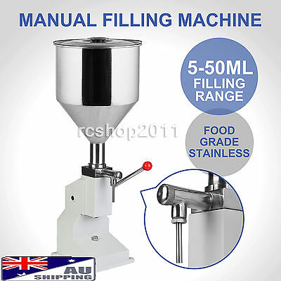 New Manual Filling Machine 5-50ml for Cream Shampoo Cosmetic Liquid Filler in AU