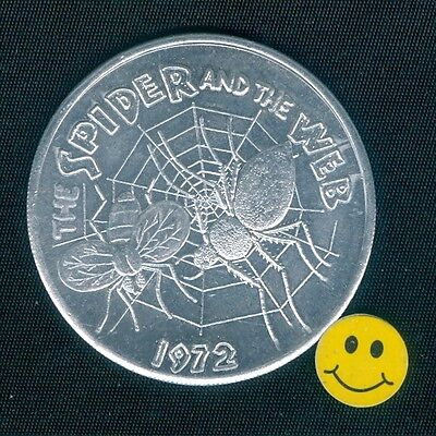 1972 The Spider & The Web - Fly - Mardi Gras Doubloon Token
