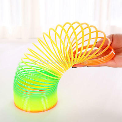 Colorful Rainbow Plastic Magic Spring Bounce Slinky Kids Children Education Toy