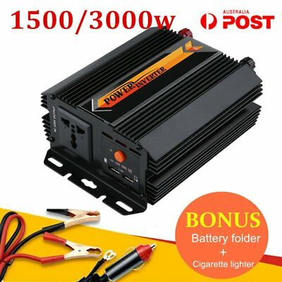 Pure Sine Wave Power Inverter 1500W 3000W 12V-240V LCD For Toyota Corolla Hilux