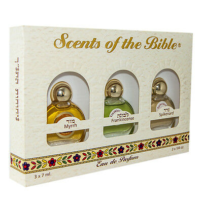 Scents of the Bible w/ Myrrh, Frankincense & Spikenard Oils Essence Ein Gedi