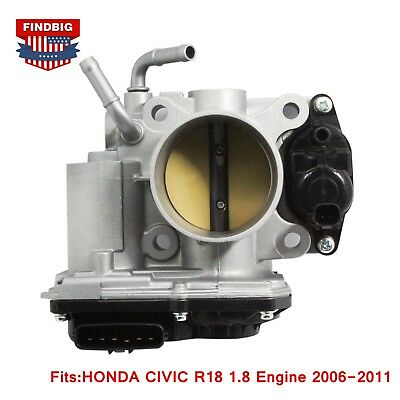 Genuine OEM Throttle Body For 2006-2011 HONDA CIVIC R18 1.8 Engine 16400-RNB-A01