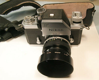 Nikon F SLR camera with Photomic FTn finder & Nikkor 50mm f1.4 AI M/F lens