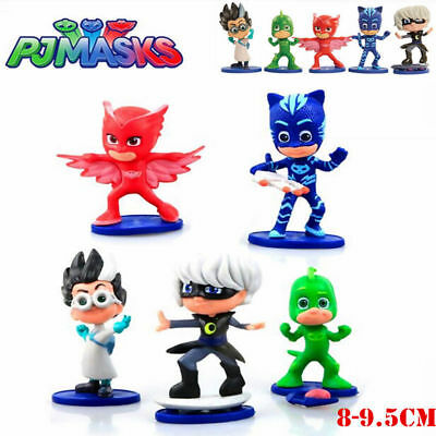 5pc PJ Masks Action Figures Doll Cake Topper Decor Kids Figurines Collection Toy