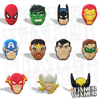 MARVEL DC SUPERHELDEN - Schuh Pins Crocs Batman Spider Man Clogs Disney jibbitz