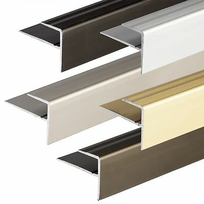 ANODISED ALUMINIUM CARPET EDGE NOSING COVER STRIP DOOR FLOOR BAR TRIM 900x23mm
