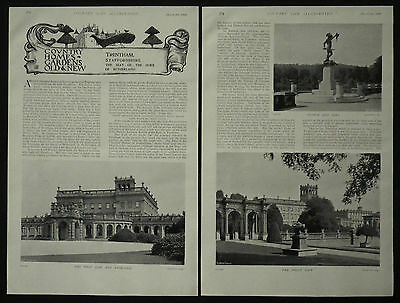 Trentham Hall Staffordshire Duke Of Sutherland Leveson Gower 1898 4 Page Article