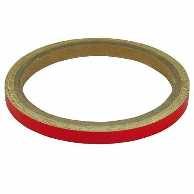 BikeIt Motorcycle Wheel/Body Stripes Motorbike Cycle 7mm Reflective Red (WST018)