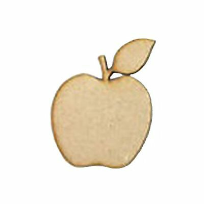 1 x MDF Wooden Apple Cutout Laser Cut Wood Craft Design Teacher Gift 3mm Thick