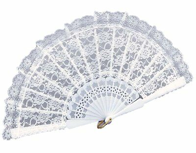 White Folding Lace Hand Fan Hand Holding Fan Hand Held Folding Fan For Party