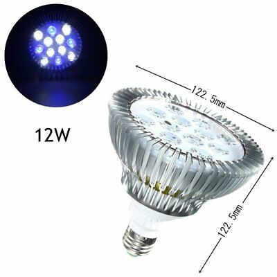 12W E27 LED Coral Reef Plant Grow Light Tank Aquarium Par38 85-265V