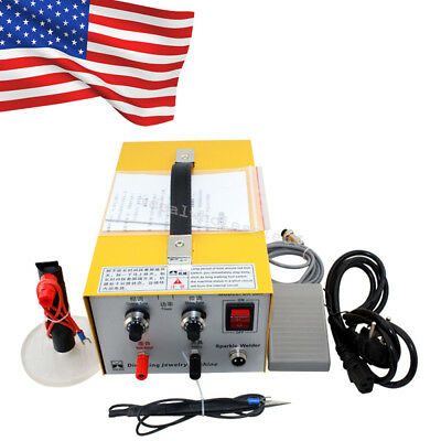 Pulse Sparkle Spot Welder 110V Jewelry Welding Machine Gold Silver Platinum Best