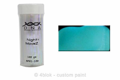 DNA Night moveZ glow in the dark additive blue green 100 gm NM01-100  - 4blok