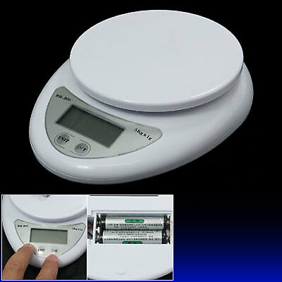 5Kg x 1g Kitchen Digital Electronic Weight Scale White
