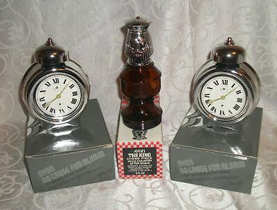 Lot of 3 Vintage Cologne Decanters By Avon No Cause For Alarm & The King